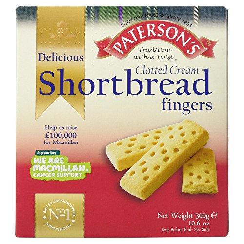 Paterson's Delicious Clotted Cream Shortbread Fingers 300g - Original schottische Shortbread Finger mit Clotted Cream
