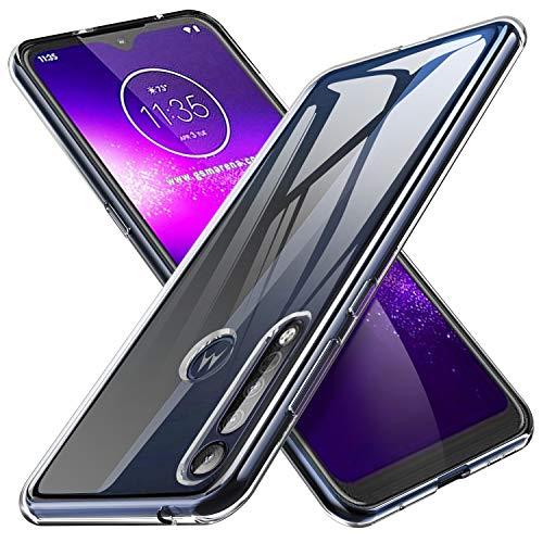 iBetter für Motorola G8 Play Hülle, für Motorola One Macro Hülle, Soft TPU Ultra Thin Cover Handyhülle [Anti-Scratch] [Slim-Fit] Shock Absorption Hülle passt für Motorola G8 Play Smartphone, klar