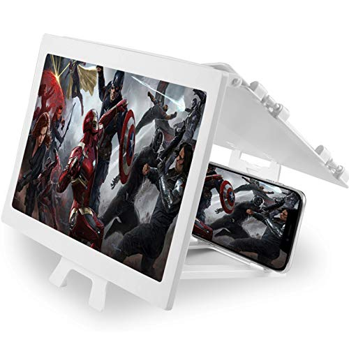 12'' Screen Magnifier – Mobile Phone 3D Magnifier Projector Screen for Movies, Videos, and Gaming...