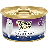 Purina Fancy Feast High Protein Senior Pate Wet Cat Food, Beef Feast Senior 7+ - (24) 3 oz. Cans