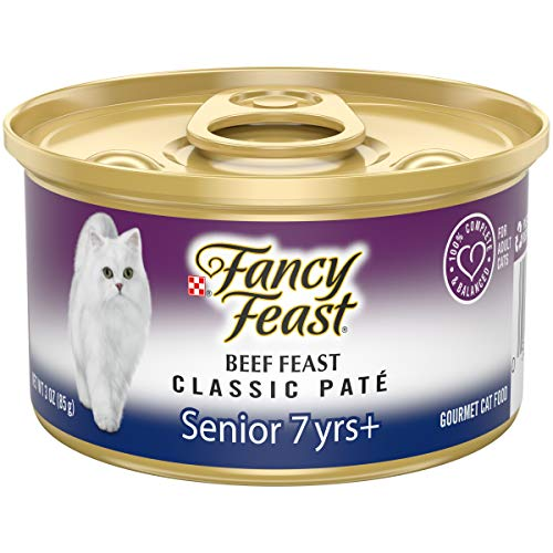 Purina Fancy Feast High Protein Senior Pate Wet Cat Food,...