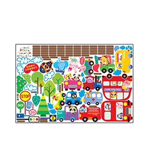 Pegatinas de coches de dibujos animados pegatinas para niños proyectos de manualidades hacer tarjetas scrapbook Classroon dormitorio decoración de pared LTLNB