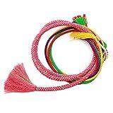 (キョウエツ)KYOETSU 成人式 結婚式 正絹 振袖 帯締め パール飾り 手組み (7.薔薇)