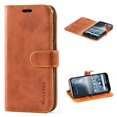 Mulbess Handyhülle für Nokia 4.2 Hülle Leder, Nokia 4.2 Handy Hüllen, Vintage Flip Handytasche Schutzhülle für Nokia 4.2 Case, Braun