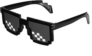 99015b9cc9 TENGGO Gafas Retro Freestyle Thug Life Pixel Gafas De Moda Unisex Gafas De  Sol Negro