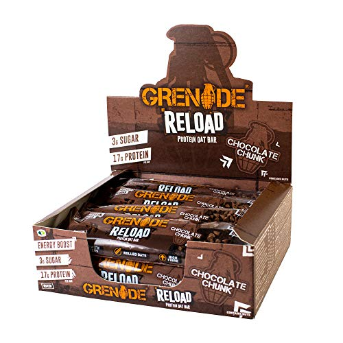 Grenade Reload High Protein Energy Oat Bar x 12 Bars - Chocolate Chunk
