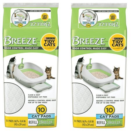 Tidy Cats Purina BREEZE Cat Pads Refill Pack - 10 ct. Pouch - 2 Pouches