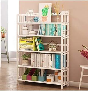 Baianju Estantería De Libros Estantería Combinada Blanca Estantería De Madera Maciza Simple Moderna Creativa Dormitorio De Los Niños Estante De Almacenamiento Simple