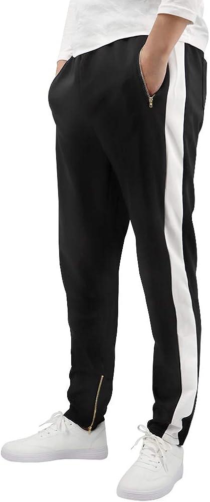 LONGBIDA Max 56% OFF Men's Gym Slim Fit Track Athletic Pants Jo Basic Active 55% OFF