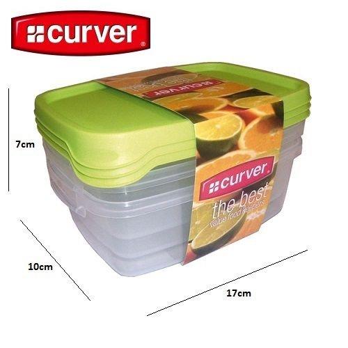 Set von 3 Behältern für Lebensmittel 0.5L Curver