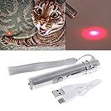 ECMQS Gatos Teaser juguete, 3 en 1 Interactive LED Luz puntero Pen USB recargable linterna...
