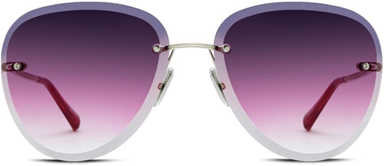 YUBINtaiyangjing Korean Version Frameless The Sunglasses Female Celebrity Net Red Gradient Male Sunglasses Tide Glasses (color   B)