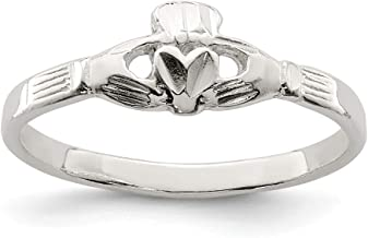 925 Sterling Silver Irish Claddagh Celtic Knot Band Ring Fine Jewelry Gifts For Women For Her