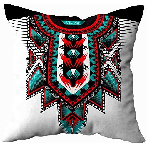 Babydo kussensloop textiel ontwerp kraag shirts blouses in tribal stijl geometrische print etnische etnische hals lijn grafische mode kussenslopen bank kussensloop seizoensgebonden huis 45X45Cm