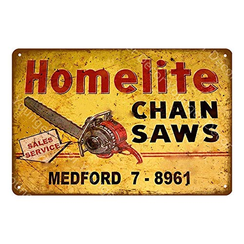 yycsqy Eisenmalerei Zinnmetall Malerei Vintage Metall Wandkunst Blechschilder Plaque Farm Garage Shop Dekor Kettensägen Poster Art Plaque Farmer-Yd7835J_20X30cm