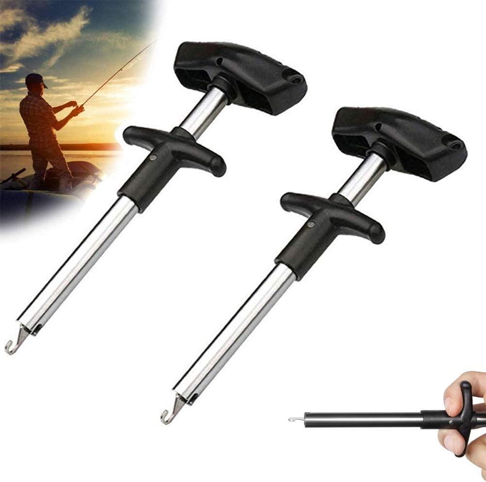 2 PCS Easy Fish Hook Remover Tool Stainless Steel For Fishing Hand Extractor