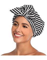 VVolf Shower Cap for Women Hair Caps for Shower Reusable Shower Cap for Long Hair Large Turban Shower Cap for Braids