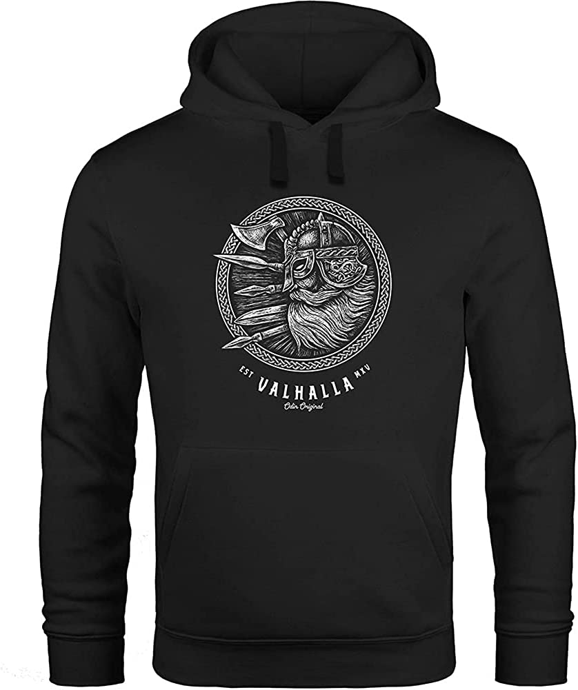Mens Viking 3D Print Valhalla Odin Warrior Axe Hoodie Tracksuit Pullover