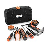 Ditole Tool Set Small 9-piece, Durable and Portable Small Tool Kits For Women Men, Mini DIY Tool Kit Box for Home Car Repair