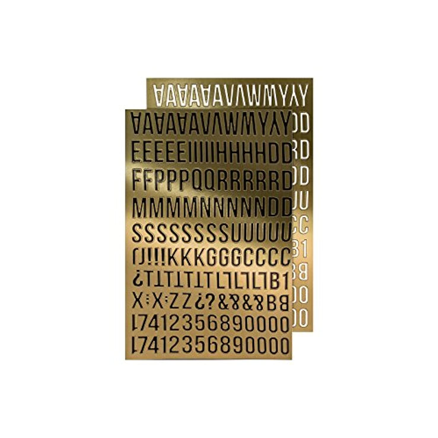 Alpha Gold Metallic Stickers by Tim Holtz Idea-ology, Letters Approximately 5/8 Inches, 568 Stickers (TH93560)