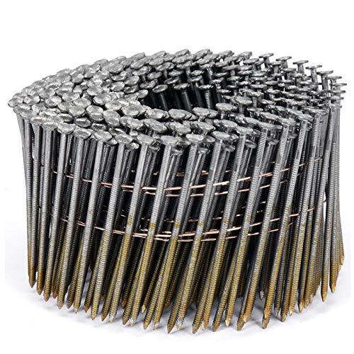 VOREL drahtgebundene Coilnägel Spulennägel Trommelnägel | Mengen und Größen nach Wunsch: 32 x 2,1 mm 38x2,1mm 50x21mm 64x2,5mm 70x2,5mm 75x2,5mm 80x2,88mm 90x2,8mm (3000, 75x2,5mm)