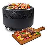 Leogreen - Barbecue a Carbone Senza Fumo, Barbecue a Carbonella con Ventilazione, Barbecue Carbone...