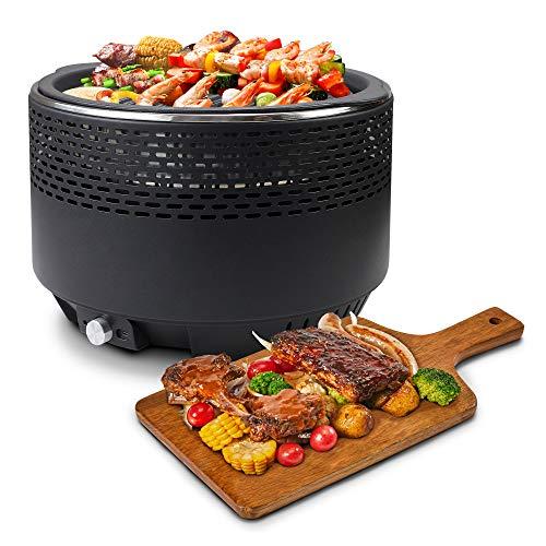 Leogreen - Barbecue au charbon de bois sans fumée, 31cm (Ø)