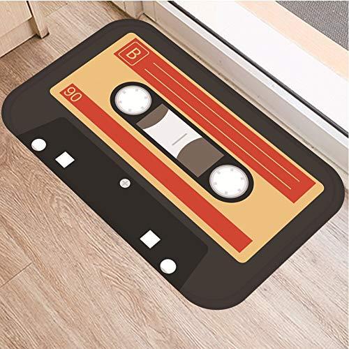 OPLJ Cinta de cassette para el suelo, antideslizante, alfombra para puerta de baño, cocina, entrada, decoración del hogar, alfombra A12, 50 x 160 cm