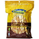 Cadet Gourmet 07220 50 pc Rawhide & Chicken Twists Dog Treats - Quantity 8