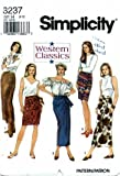 Simplicity 8237 Sewing Pattern Misses Mock Wrap Western Skirts Size 6-10 - Waist 23-25