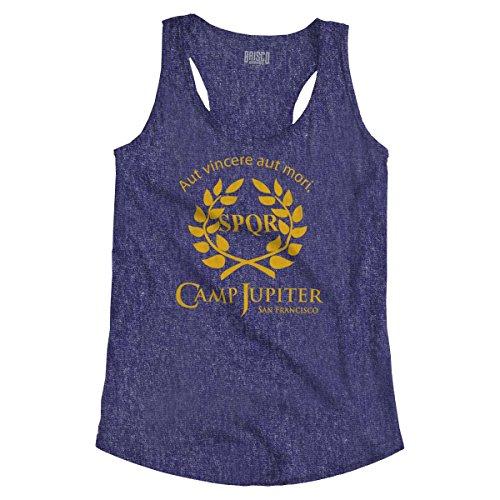 Camp Jupiter SPQR Greek Mythology Ladies Racerback Tank Top Heather Purple