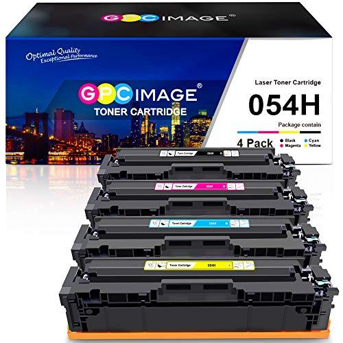 GPC Image Cartucho de tóner compatible para Canon 054H CRG 054 (compatible con ImageClass LBP622Cdw MF644Cdw MF642Cdw MF640C LBP620, tinta para impresora de tóner