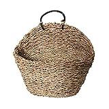 MCC Weidenkorb mit Griff für Aufbewahrung, handgefertigt, aus Weide, Hängekorb, Blumenbox, für den Garten, Zuhause, Wanddekoration