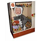 Anne Geddes 9 inch Baby Kitten Doll - Bean Filled Soft Body Collection