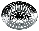 Home Xpert Shower Hair Sieve Strainer Hair Catcher Sink Strainer, Set of 2Available in Different Sizes and Colours, Plastic, silver, 7 cm by homeXpert