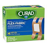 Curad Fabric Adhesive Knuckle Bandages, Finger Bandages for Knuckles, 100 Count