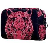 Red Tiger - Estuche organizador de maquillaje portátil para viaje
