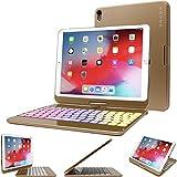 Snugg iPad Mini 5 Keyboard [Gold] Backlit Wireless Bluetooth Keyboard Case Cover 360°