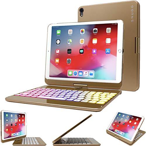 "Snugg iPad Air 3 (2019) / iPad Pro 10.5 / iPad 10.2 Keyboard, Wireless Backlit Bluetooth Keyboard Case Cover 360° Degree Rotatable Keyboard for Apple iPad Pro 10.5"" - Gold"