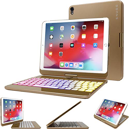Snugg iPad Mini 5 Keyboard [Gold] Backlit Wireless Bluetooth Keyboard Case Cover 360° Degree Rotatable Keyboard for Apple iPad Mini 5