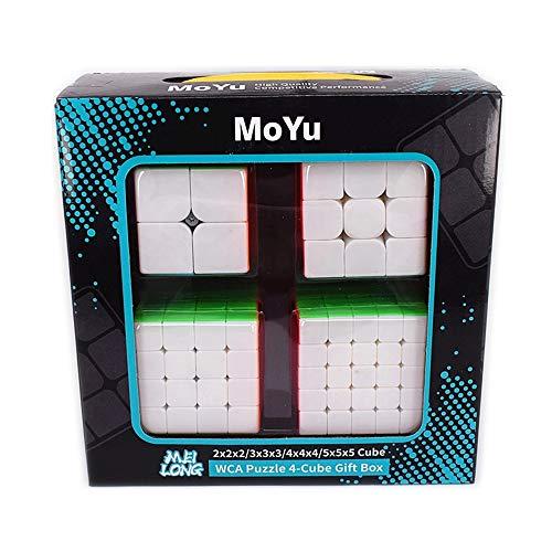 LiangCuber Moyu Meilong 2x2 3x3 4x4 5x5 Speed Cube Gift Box Stickerless Puzzle Cubing Bundle 2x2x2 3x3x3 4x4x4 5x5x5 Magic Cubes