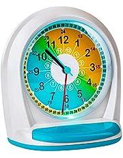 Onvaya® Despertador sin tictac para niños y niñas | Despertador de Cuarzo con luz y función de Siesta | Despertador analógico de Aprendizaje con Grandes números