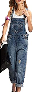 Beikoard Donna Salopette Jeans Pantaloni di Harem Denim Cinghie Casuali delle Pantaloncini Tinta Unita Tuta Bavaglino