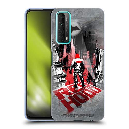 Head Case Designs Oficial Batman: Arkham Knight Capucha Roja Gráficos Carcasa de Gel de Silicona Compatible con Huawei P Smart (2021)