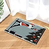 Tappeti da bagno Anno Nuovo La ballerina polacca vestita da Babbo Natale antiscivolo zerbini da pavimento Pavimenti interni zerbino per bambini Tappetino da bagno 50x80cm Accessori per il bagno