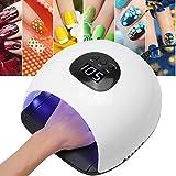 72W Lámpara LED UV para Uñas,Secador de Esmalte de Uñas,Herramienta de Manicura de Uñas de Secado Rápido con Guantes(EU)