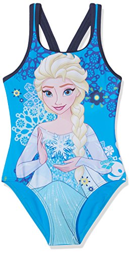 Arena 246 Costume da Bagno Bambina, Turchese (Frozen Disney), 110 (Taglia produttore:6)