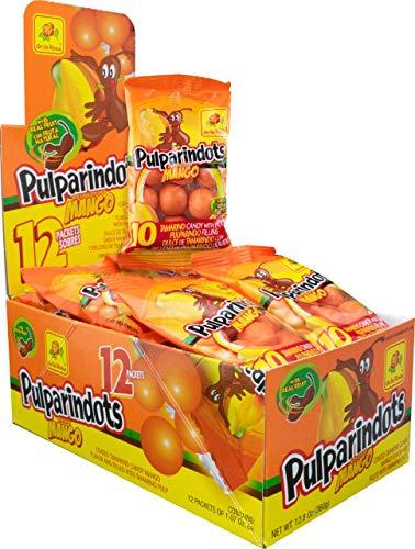 Mango Pulparindots - Topa karamele me erëza tamarind me mango - Kuti me 12 thasë me 10 njësi