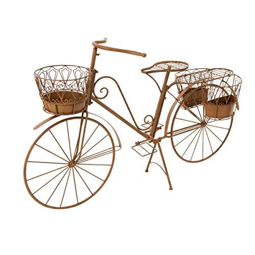 Pureday miaVILLA Blumentopfhalter Fahrrad Rusty - Blumenständer - Metall - Rost