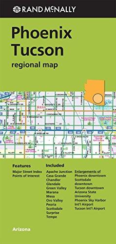 Rand McNally Phoenix/Tuscon Regional Map (Greeen Cover) (Rand Mcnally Regional Map)